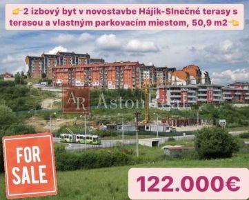Predaj: 2 izbový byt v novostavbe, 50,9m2 Slnečné terasy Žilina-Hájik