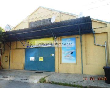 RK Reality Gold - Bratislava s.r.o. ponúkame na predaj  objekt - sklad nachádzajúci sa v Bratislave v mestskej časti Nové Mesto, na ulici Stará Vajnorská