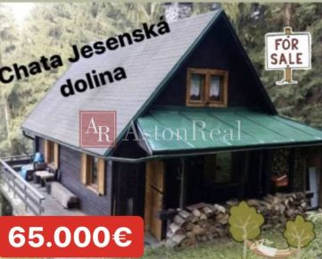 Predaj: celoročne obývateľná chata v Jasenskej doline