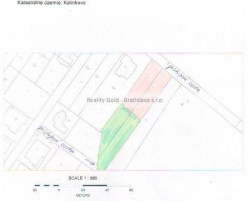 RK REALITY GOLD- Bratislava s.r.o. ponúka na predaj pozemok na stavbu RD v obci Kalinkovo