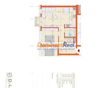 OMNIA – D.L6 - 2. izbový BYT o celkovej výmere 65,68 m2 s parkovacím státím