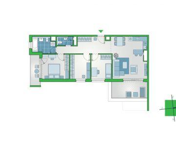 3-izbový byt s terasou a balkónom v novej etape v novostavbe NUPPU v Ružinove (D1203)