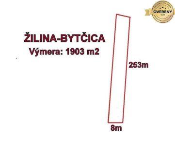 BYTČICA - pozemok 1903 m2,okr. Žilina