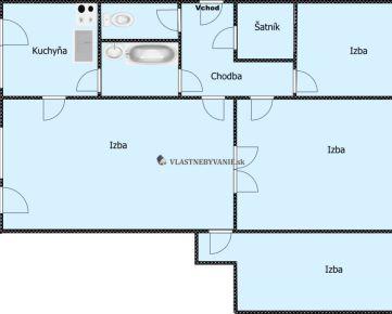 Predaj 4.Izbový ,LANDAUOVA-Dúbravka, 75m2+ lodžia 7m2