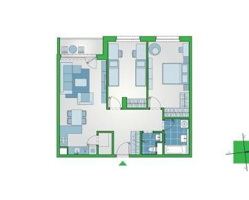 Nový 3-izbový byt s komorou a lodžiou v ružinovskom projekte NUPPU (D1109)