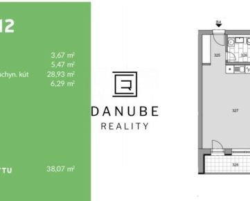 Predaj 1 izbový byt projekt Modranka, Trnava.