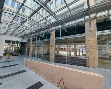 Obchodný priestor s výkladom 156 m2 na prenájom v Europeum Business Centre na Suchom Mýte v Bratislave