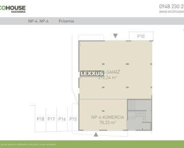 LEXXUS-PREDAJ, komerčné priestory 282,47 m2, Ecohouse, BA II