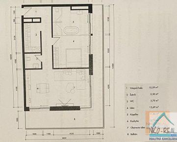 Zaujímavý 2 izb. byt v novostavbe Tehelné pole, BAJKALSKÁ ul.