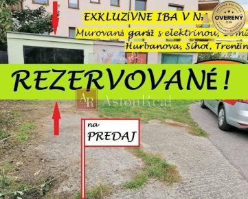 REZERVOVANÉ! Murovaná garáž, 19m2, Hurbanova, Trenčín