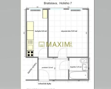 Predám 1-izbový byt Holého ulica