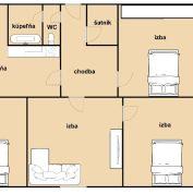 4-izb. byt 1m2, pôvodný stav