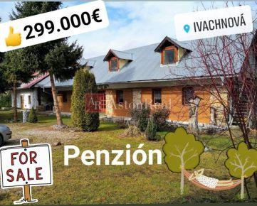 Predaj: Penzión - Kúria - pozemok 10. 328m2,  Ivachnová - Lazy