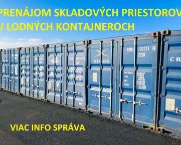 Prenájom skladových priestorov v lodných kontajneroch, s bezproblémovým prístupom 24 hodín v Pezinku