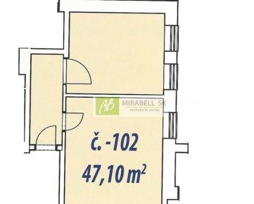 Nebytový priestor v štandarde v centre mesta - Gunduličova ul, 47 m2