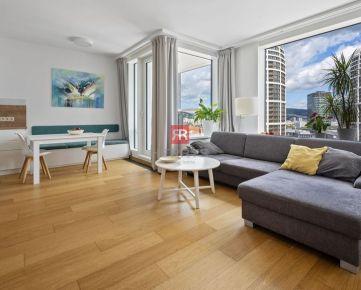 HERRYS - Na predaj - 2 izbový apartmán na 15.podlaží projektu Panorama City s garážovým státím
