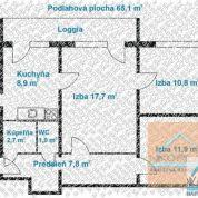 3-izb. byt 66m2, kompletná rekonštrukcia