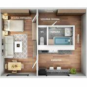 1-izb. byt 31m2, pôvodný stav