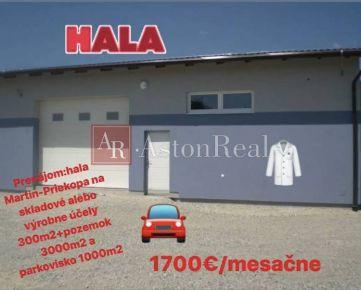 Prenájom:Hala Martin-Priekopa na skladové a výrobné účely 300m2