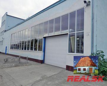 Výrobná hala 310 m2 so skladom a administratívou v Nitre na prenájom