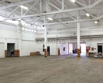 DOMIOS / Prenájom výrobno-skladových priestorov (1.341,00 m2, 2x rampa, vjazd, kancelárie, KE-Juh)