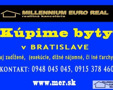 SÚRNE!!! Hľadáme na kúpu 4 izbový byt, v BA V – Petržalka ... platba v hotovosti alebo na úver .... stav nerozhoduje ... CENA DOHODOU... www.mer.sk