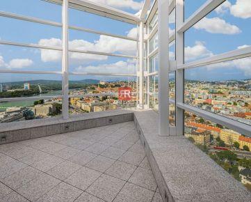 HERRYS - Prenájom veľkometrážny penthouse s terasou, krbom a uzavretou garážou na najvyššom poschodí v projekte Panorama City
