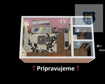 Pripravujeme :  Garsónka 20 m2 , čiastočne prerobená, zariadená- Banská Bystrica