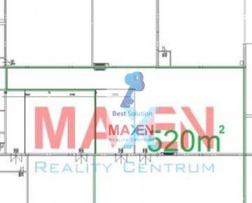 Prenájom: *MAXEN* , Murovaná výrobno-skladová HALA 520 m2, Košice - mestská časť Nad jazerom