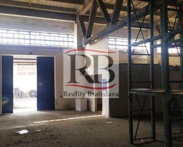 Výrobno-skladový priestor 306m² na prenájom