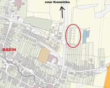 Pozemok na výstavbu rodinného domu, obec BADÍN, Banská Bystrica, 550 m2
