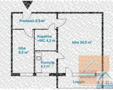 2 izb. byt, PODZÁHRADNÁ ul., po novej komplet. rekonštrukcii