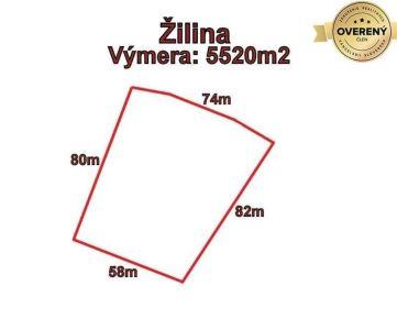 ŽILINA - pozemok 5520m2