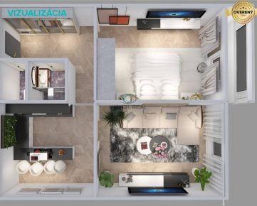 Exkluzívne na predaj, 2 izbový byt, 58 m2, 4.p, loggia, Furča