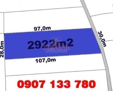 Predaj- stavebný pozemok- 2922m2 (11,-€/m2)-  Detvianska Huta- Bratkovica