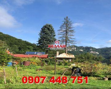 Na predaj slnečná záhrada s chatkou, Dolný Harmanec, Banská Bystrica