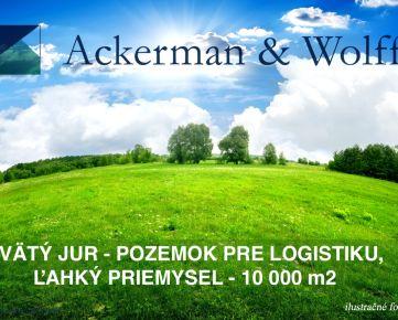 Ackerman & Wolff ponúka na predaj rozsiahly pozemok vo Svätom Juri pre logistiku, ľahký priemysel  - 10000m2