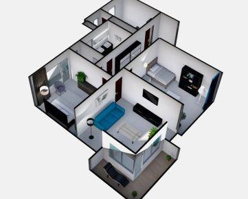 ..v CENTRE MESTA 3-izb.byt s 2 balkónmi