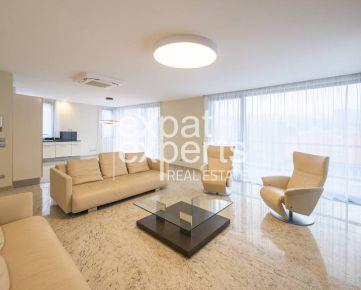 Luxusný 5i byt, 217 m2, čiastočne zariadený, terasa, parkovanie