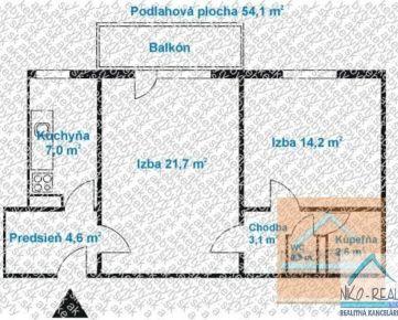 2 izb. byt, ZÁLUŽICKÁ ul., po kompletnej rekonštrukcii