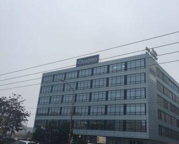 Prenajom kancelarii v administrativnej budovy Quadro  v centre mesta v Ruzinove ulica Prievozska s parkovanim pred objektom