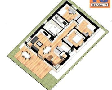 Rodinný štvorizbový dom 91,4 m2, novostavba, pozemok cca 500 m2, Ličartovce. CENA: 125 000,00 EUR