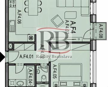 Na predaj 2 izbový byt na Tomášikovej ulici v projekte OMNIA v Ružinove