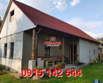 Na predaj rodinný dom vhodný na chalupu v obci Detvianska Huta