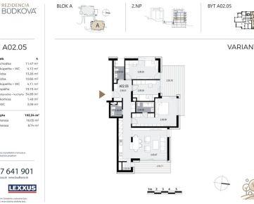 PREDAJ - 4-izbový byt v projekte Rezidencia Búdková, Staré Mesto