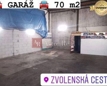 PRENÁJOM ! Garáž, 70 m2, Banská Bystrica - Zvolenská cesta