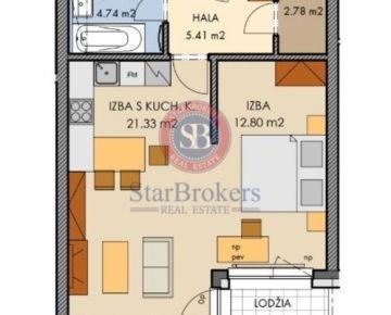 StarBrokers - PREDAJ - 2 izb. byt, v novostavbe PREMIÉRE, v štandarde, Šancová ulica
