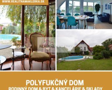Polyfunkčný 3-podlažný objekt s rodinným domom a bytovými jednotkami