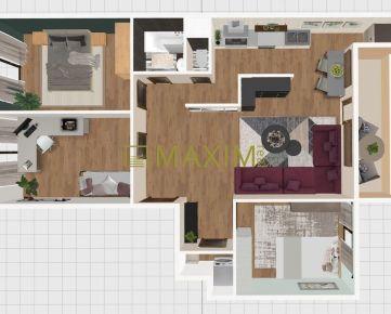 Výnimočná ponuka – 4-izbový byt v centre mesta