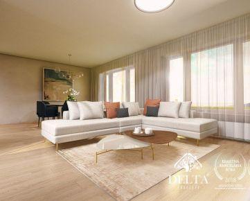 REZERVOVANÉ: DELTA   Bory Bývanie 2, nový 4 - izbový byt na najvyššom poschodí s terasou , Lamač / Devínska Nová Ves, 123 m2